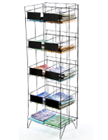 Wire Magazine Display Rack