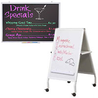Marker and chalk write-on boards