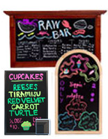 These writing boards are often seen in restaurants and bars for featured food and drink specials.