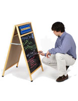 Write-on Sandwich Board