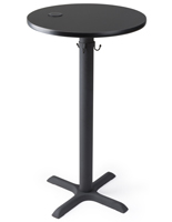 "24"" black wireless power charging table for restaurants"