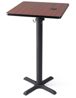 "24"" square wireless charging pub table for restaurants"