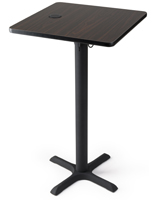 "24"" square wireless charging table station for hotels"