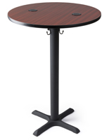 "42"" tall power charging wireless pub table"