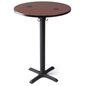 Power charging wireless pub table with round top