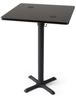 "30"" Wireless square charging table for restaurants"