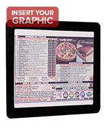 Black 8.5x11 takeout menu frame