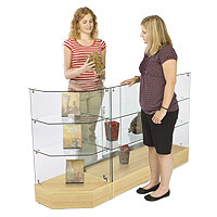 Wooden Showcase Is a Great Way to Attract Customers to Merchandise.