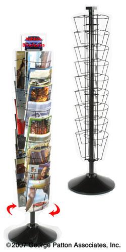 Exhibition Literature Stand : Revolving literature rack pockets