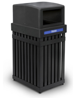 Black Outdoor Trash Can