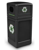Black Commercial Recycling Bin