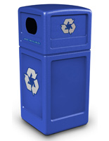 Blue Dome Lid Recycling Bin