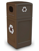 Brown Outdoor Recycling Bin