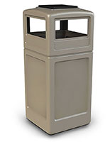 beige ash/tray receptacle