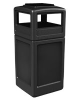 black ash/trash receptacle