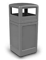 Gray Trash Container