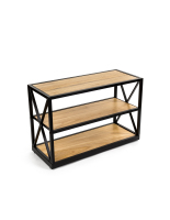 26.5-inch tall natural colored french industrial console shelf