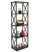 Paulownia 5-tier industrial rustic shelving unit