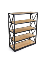 50.5-inch tall natural pine engineers industrial bookcase shelves