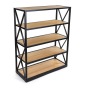 5-tier engineers industrial bookcase shelves made from pine and steel