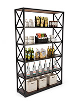 Dark brown etagere x shelves