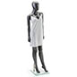 Proportional Silver Female Mannequin