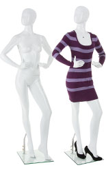Abstract Female Fiberglass Mannequin With Detachable Arms, Hands, Torso and Leg