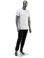 MIM体育cular Silver Male Mannequin