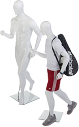 Gloss White Male Sports Mannequin