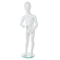 Abstract Child Mannequin w/ Circular Glass Base