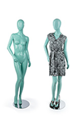 Propped & Unpropped Blue Abstract Mannequin