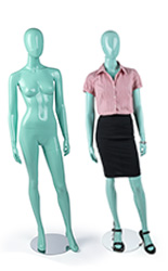 Blue Glossy Mannequin With & Without Props