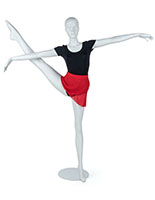 Semi-Abstract Dancing Mannequin with Leg in Air