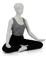 Unpropped Sitting Yoga Mannequin with Molded Face