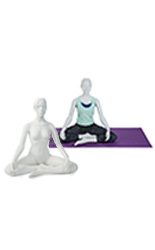 Clothed and Nude Sitting Yoga Mannequin