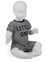 Sitting Baby Mannequin with Molded Face & Hair