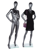 Glossy gray female abstract mannequin