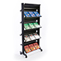 Rolling Magazine Rack with Adjustable Shelving
