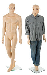 Fiberglass Male Mannequin w/ Muscular Build