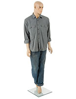 Fiberglass Male Mannequin with Detachable Hands