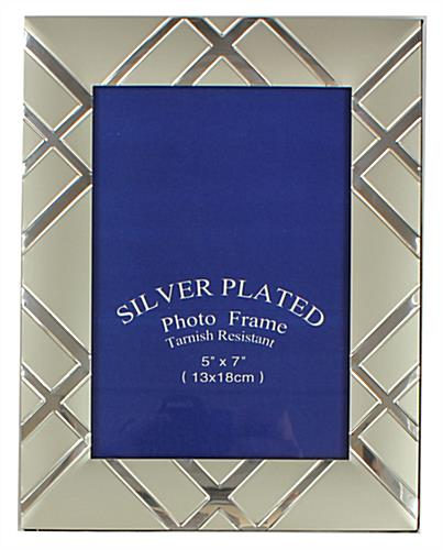 Silver Picture Frames With Reflective Accents