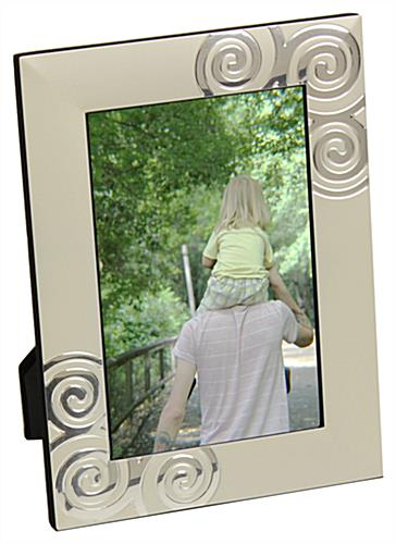 Decorative Picture Frames with Reflective Accents