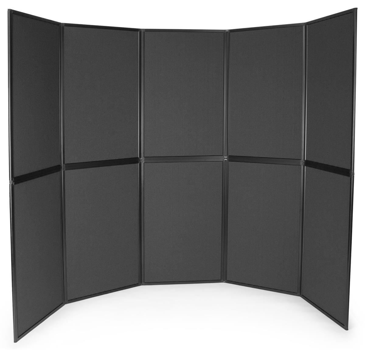 Displays2go Folding Hook-and-Loop Display Board, Floorsta...