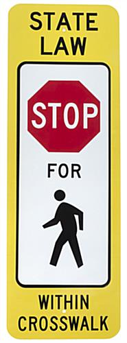 Portable Crosswalk Sign, Plastic