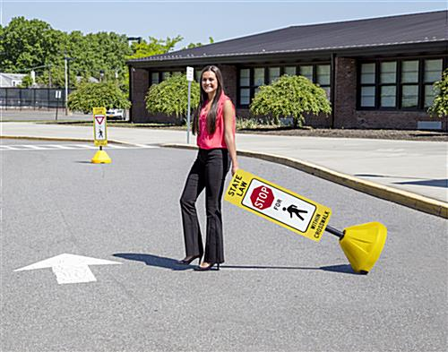 Portable Crosswalk Sign, Floor Standing