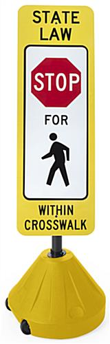 Portable Crosswalk Sign, Yellow