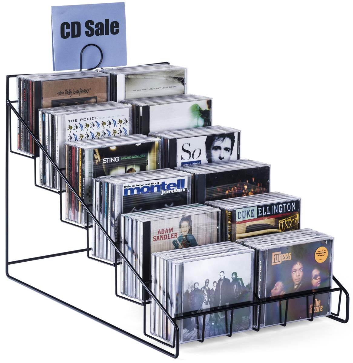 Countertop Dvd Display 6 Tiers 12 Pockets