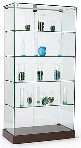 Frameless Tower Displays Free Standing Glass Showcases