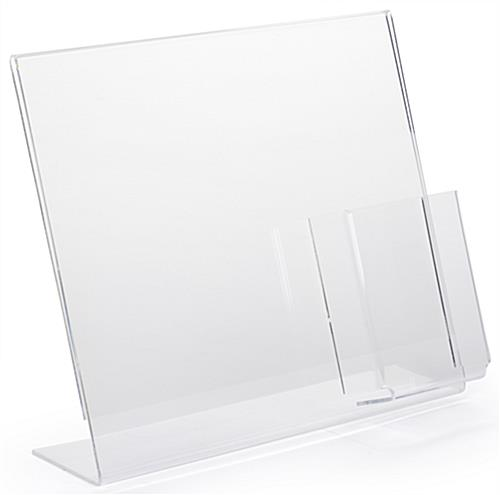 "Flat Bottom 13"" x 11"" Sign Frame with Brochure Holder"