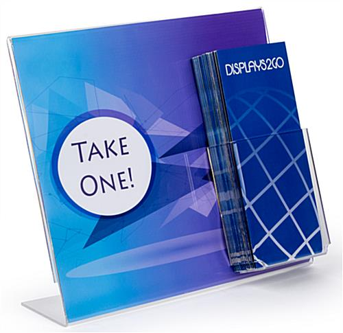 "Acrylic 13"" x 11"" Sign Frame with Brochure Holder"